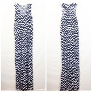 Lily Pulitzer Pima Cotton Chevron Print Maxi Dress
